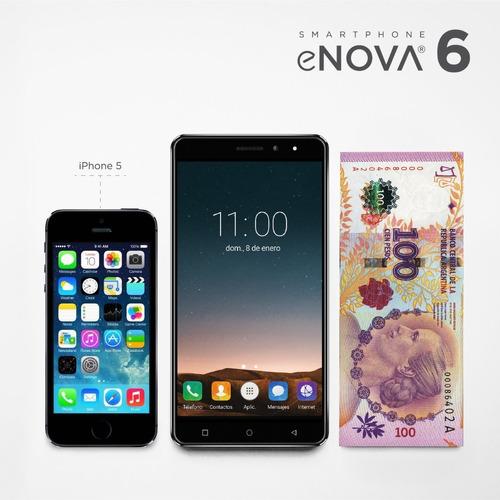 celular libre 6 pulgadas 4g/lte 2gb/16gb huella+funda+vidrio