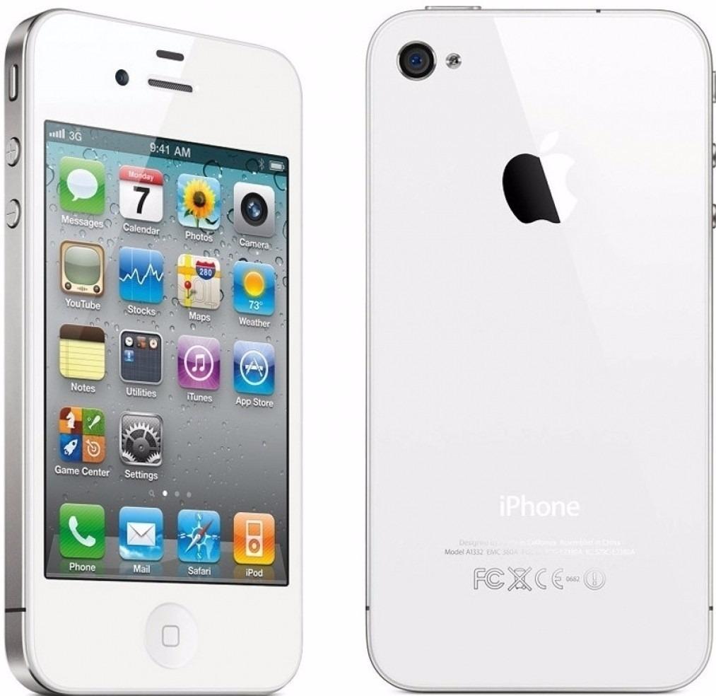 celular libre apple iphone 4 refur bco 8gb 5mpx gir scopio. Black Bedroom Furniture Sets. Home Design Ideas