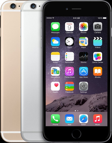celular libre apple iphone 6 16gb gray refurbish 8mpx huells