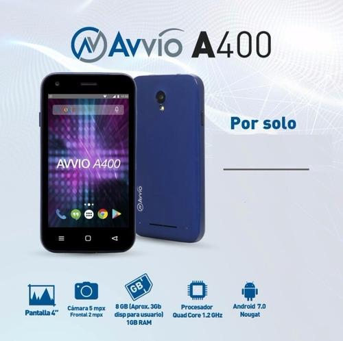 celular libre avvio a400 3g mem 8gb ram 1gb 5mpx 4 pulgadas