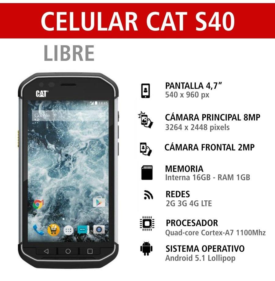 838409ce049 Celular Libre Cat S40 (nuevo) - $ 11.700,00 en Mercado Libre