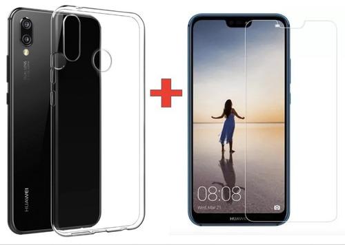 celular libre huawei p20 lite 32gb + forro, reconocimiento f
