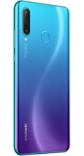celular libre huawei p30 lite azul 128gb /3 camaras + forro