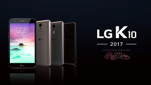 celular libre lg k10 2017 cam 13mpx ram 2gb 16gb l huellas