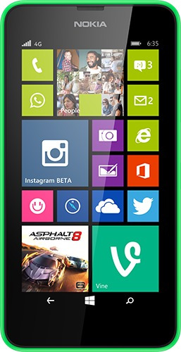 celular libre microsoft lumia 635 negro (01590)