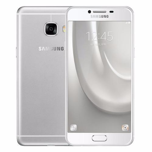 celular libre samsung galaxy c7 silver 32gb  16mp l.huellas
