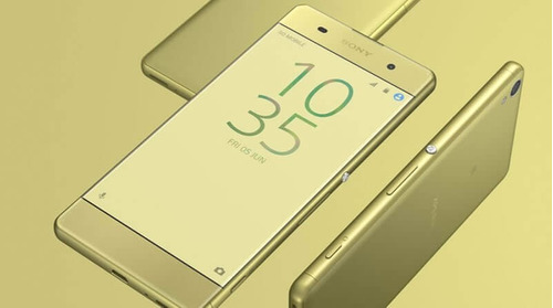 celular libre sony xperia xa lime gold 13mp ram 2gb mem 16gb