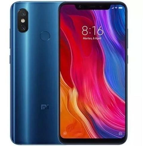 celular libre xiaomi mi 8 /128gb//12mp/ 20mp / 6 ram + forro