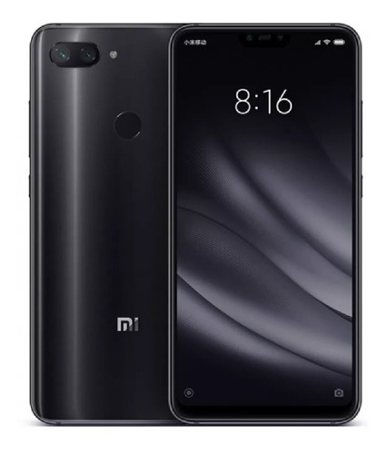 celular libre xiaomi mi 8 lite 128gb/ 6 ram, negro