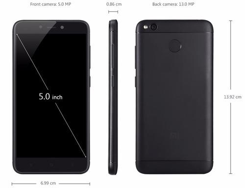 celular libre xiaomi redmi 4x dorado 5'' 32gb 13mp/5mp 4g