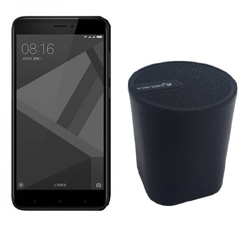 celular libre xiaomi redmi 4x negro 32gb + parlante bt65
