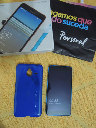 celular lumia 640 xl cyan 4g liberado p/personal