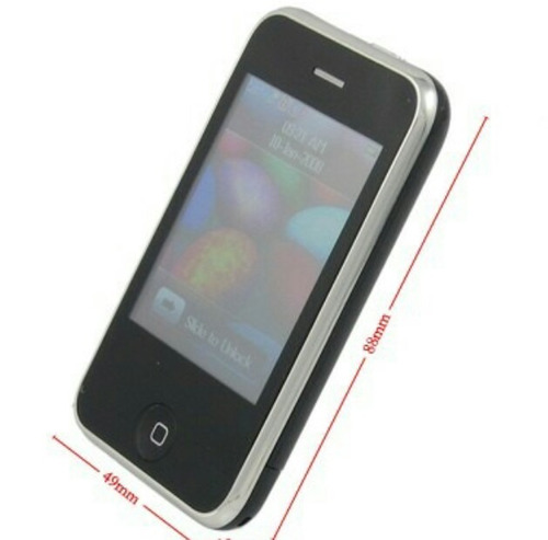 celular mini phone liberado dual sim con radio bluetooth mp4