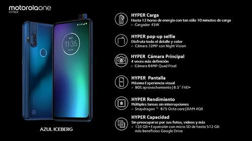 celular moto one hyper 4/128 xt 2027-1 azul.