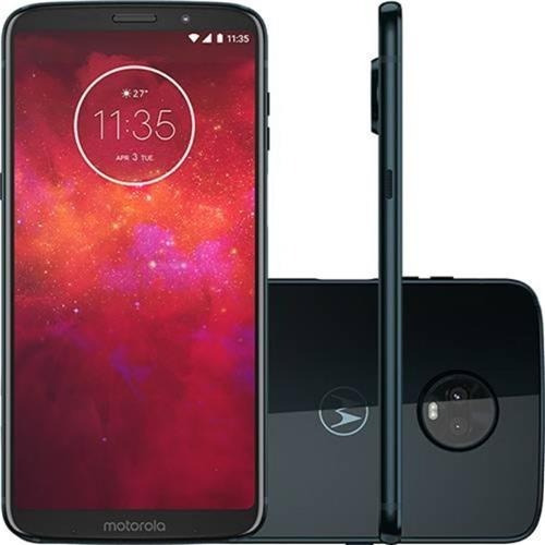 celular moto z3 play 128gb 6gb ram octa core e brindes