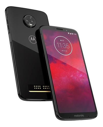 celular moto z3 play 64gb power pack e tv xt1929 original nf