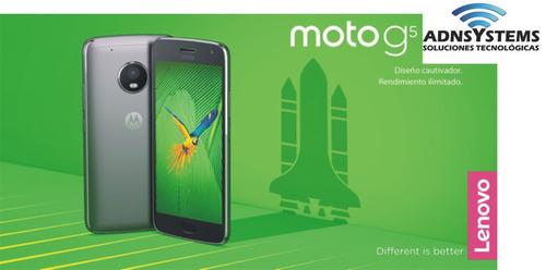 celular motorola g5 dual libre -100% original- factura a y b