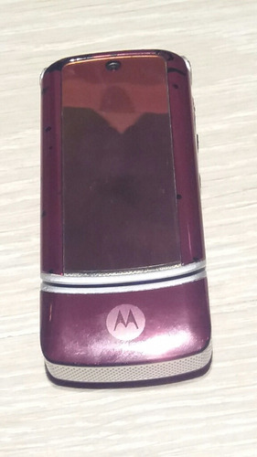 celular motorola krzr k1 gsm flip rosa