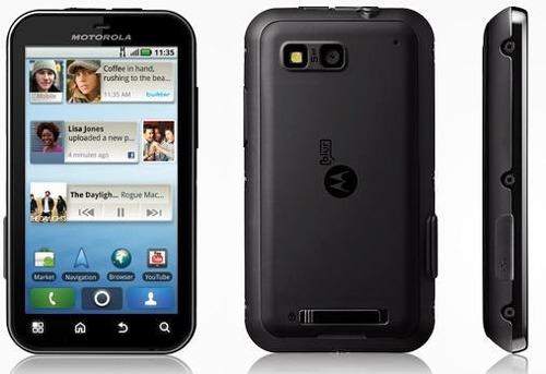 celular motorola mb525 defy preto com camera 5mp, 3g, gps