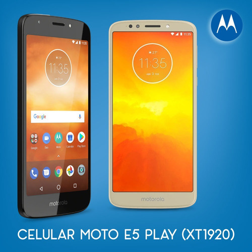 celular motorola moto e5 play 4g 16gb 1gb xt-1920 c/monopod
