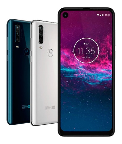 celular motorola one action 128gb triple cámara gtia oficial