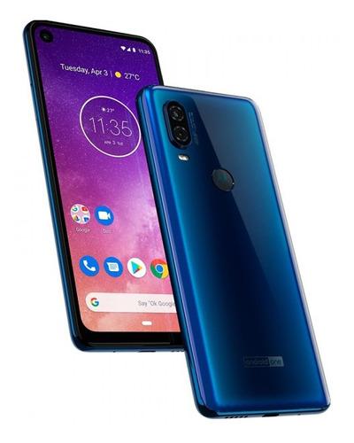 celular motorola one vision azul