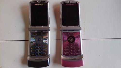 celular motorola v3  2 aparelhos pra concertar