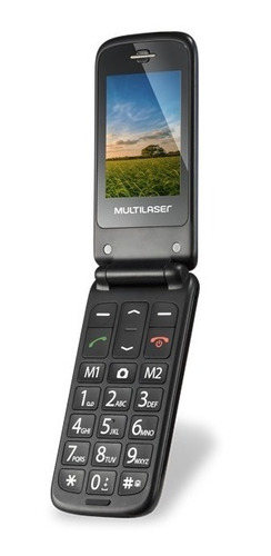 celular multilaser flip vita azul p9020 p/ idoso sos 12x s/j
