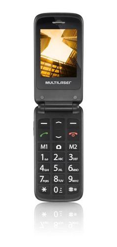 celular multilaser flip vita, câmera, rádio, mp3, lanterna,