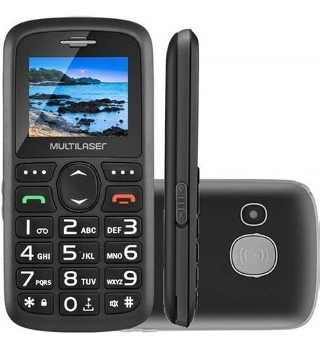 celular multilaser vita 3 botão sos dual chip preto