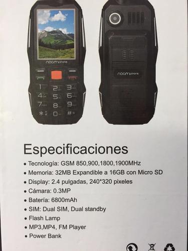 celular naomi np6800 telefono todo terreno uso rudo golpe ca
