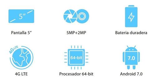 celular neffos c5s, 5.0'', 4g lte, dual sim, quad-core