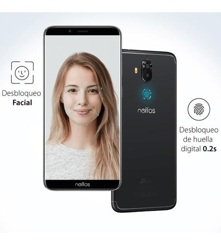 celular neffos x9, 5.99'', desbloqueo facial huella + regalo