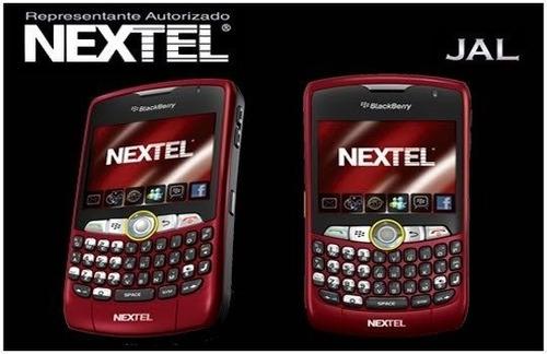 celular nextel blackberry 8350 rosa pink facebook internet