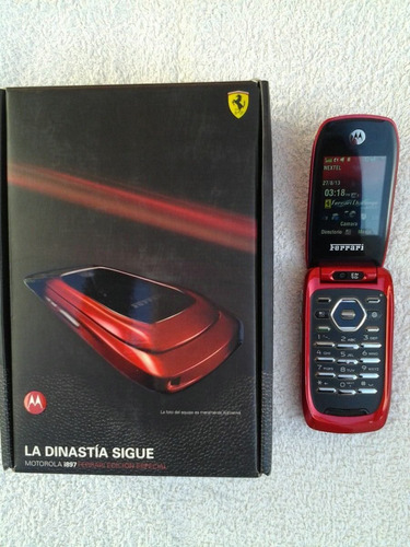 celular nextel i897 ferrari colorado en caja original libre