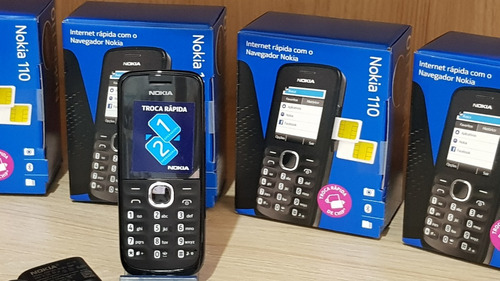 celular nokia 110,2chip,lacrado,2g,nacional,câmera,rádio fm