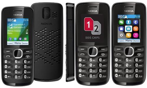 celular nokia 110,de 2chips,lacrado,nacional,câmera,rádio fm
