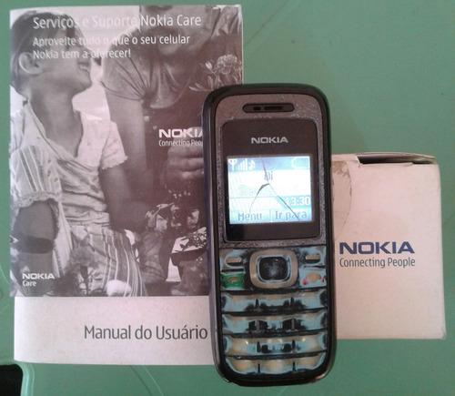 celular nokia 1208 funcionando mais com defeitos