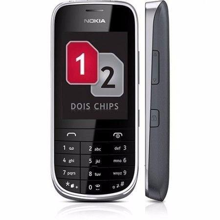 celular nokia asha 202 -02chip,novo,anatel, completo