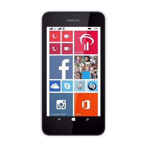 celular nokia barato lumia 530 dois chip c/ nt fiscal branco