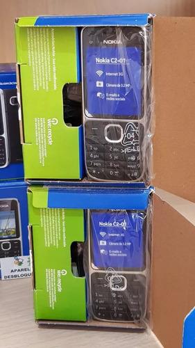 celular nokia c2-01, lacrado,3 g, simples, nacional anatel, cartão 2gb,fone,manual, rádio, bluetooth, câmera, sinal bom
