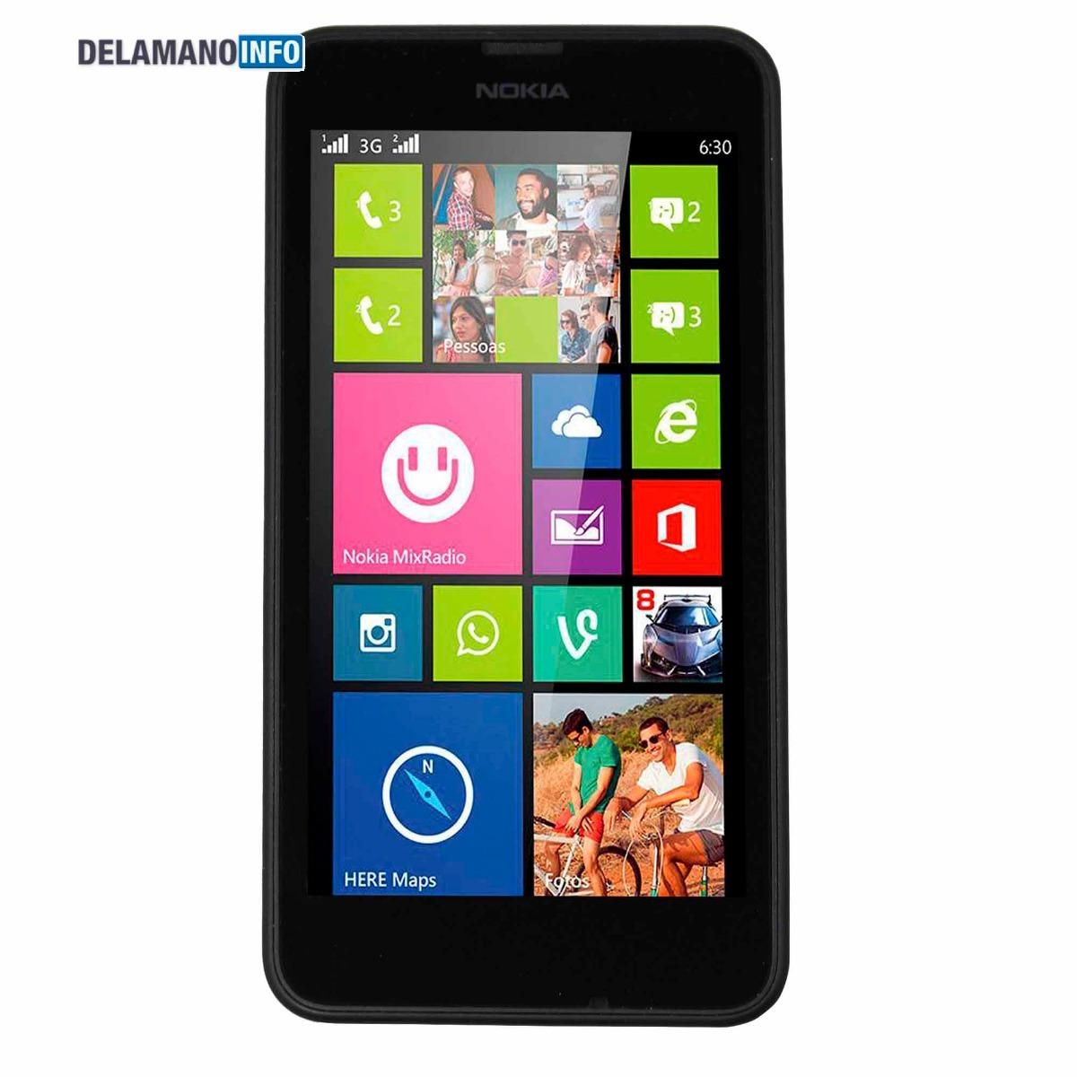 bb110870615 Celular Nokia Lumia 630 Preto 4.5 Seminovo (11748) - R$ 247,90 em ...