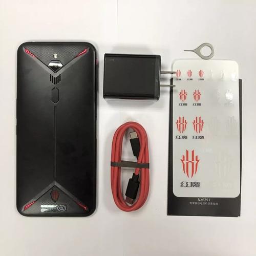 celular núbia red magic 3 128 rom tela 6,65 90hz +capa gamer