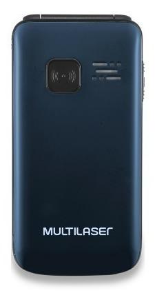 celular p9020 flip vita dual chip mp3 azul multilaser