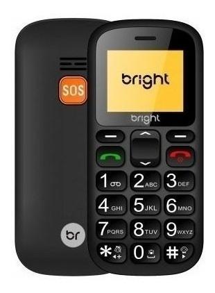 celular para idoso bright senior 0485 com sos teclas grandes