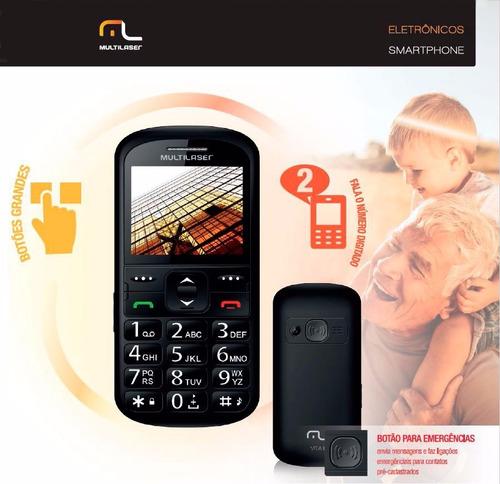 celular para idoso com tecla e numero grande desbl  2 chip