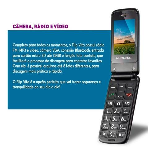 celular para idoso teclas grandes botão sos emergencia flip