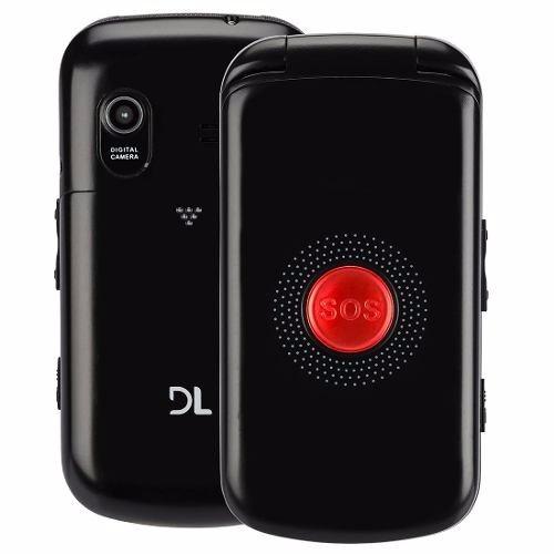 celular para idosos sos flip tecla grande dl- modelo yc-130