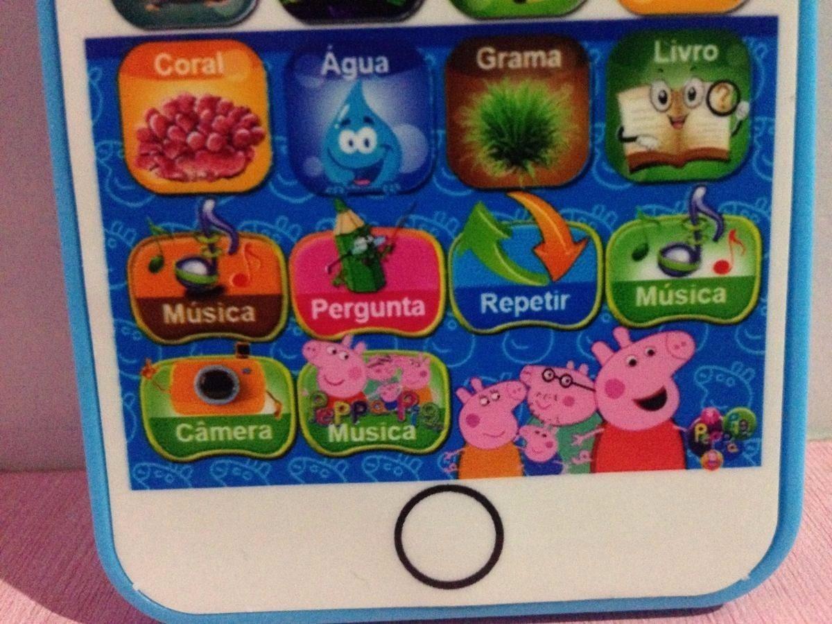 celular peppa pig educativo toque crianças música. Carregando zoom.
