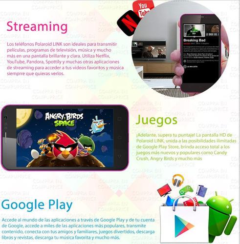 celular polaroid link a4 dual sim +kit accesorios dhl gratis